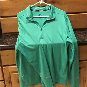 Nike Running Shirt 1/2 Zip- Men's Large
